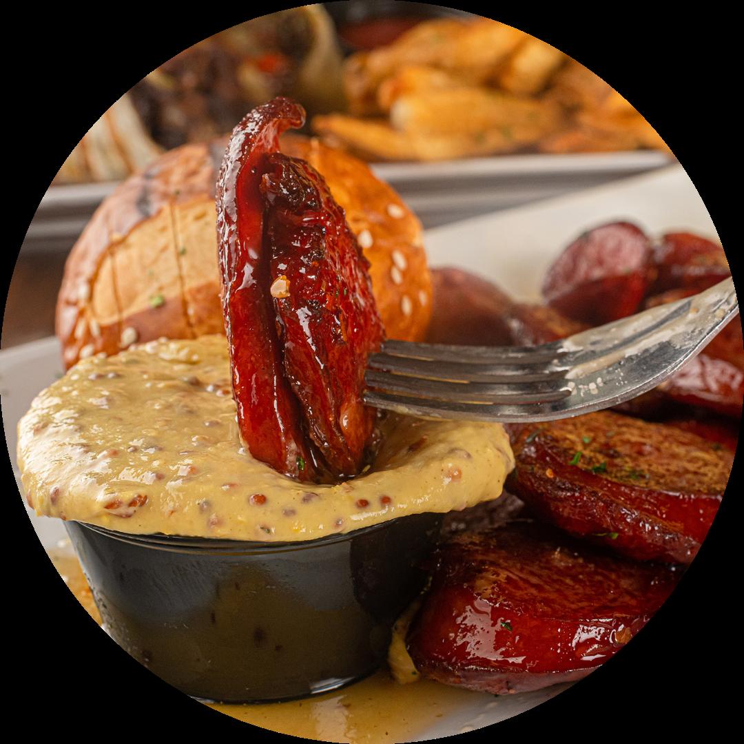 Spicy Honey-Glazed Kielbasa